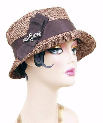 Samantha Hat Style - Liam in Brown Upholstery (Medium Available / One Large Left!)