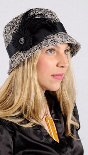 Samantha Hat Style - Luna in Black (One Medium Left!) Medium / Band - Assorted / Trim Assorted Hats Pandemonium Millinery