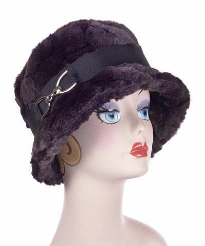 Samantha Hat Style - Luxury Faux Fur in Aubergine Dream (One Medium Left!)