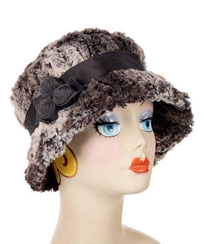 Samantha Hat Style - Luxury Faux Fur in Chinchilla Brown (One Medium / One Large Left!)
