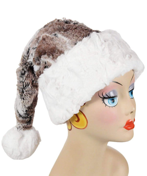 Pandemonium Millinery Santa Hat Style - Birch with Cuddly Faux Fur in Ivory Adult / Cuddly Ivory Hats