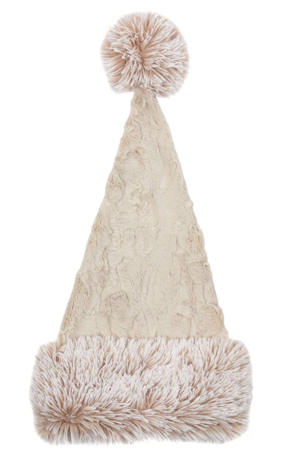 Santa Hat Style - Cuddly Faux Fur Sand with Foxy Beach