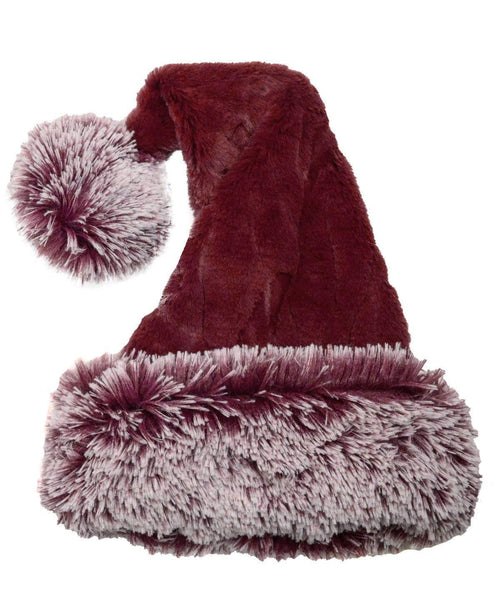 Pandemonium Millinery Santa Hat Style -  Luxury Faux Fur in Cranberry Creek with Berry Foxy Hats