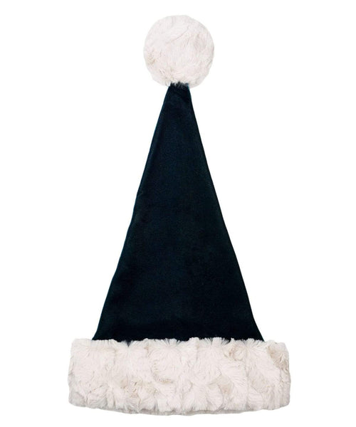 Pandemonium Millinery Santa's Elf Hat Style - Emerald Velvet with Cuddly Faux Fur in Sand Hats