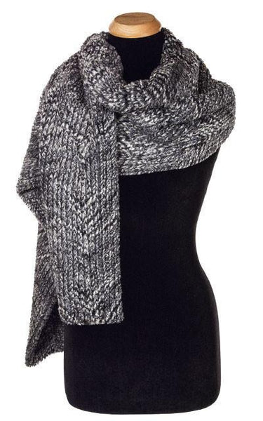 Stole - Cozy Cable in Ash Faux Fur Cozy Cable in Ash Scarves Pandemonium Millinery