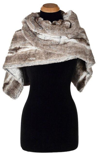 Stole - Luxury Faux Fur in Birch Birch Scarves Pandemonium Millinery