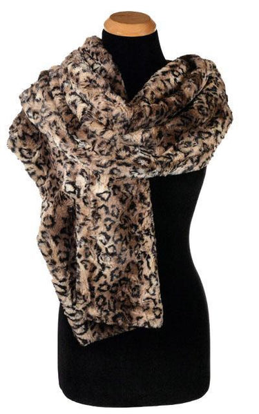 Stole - Luxury Faux Fur in Carpathian Lynx CARPATHIAN LYNX Scarves Pandemonium Millinery