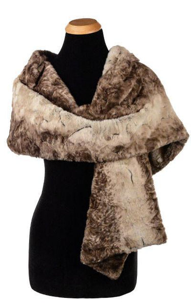 Stole - Luxury Faux Fur in Fawn Fawn Scarves Pandemonium Millinery