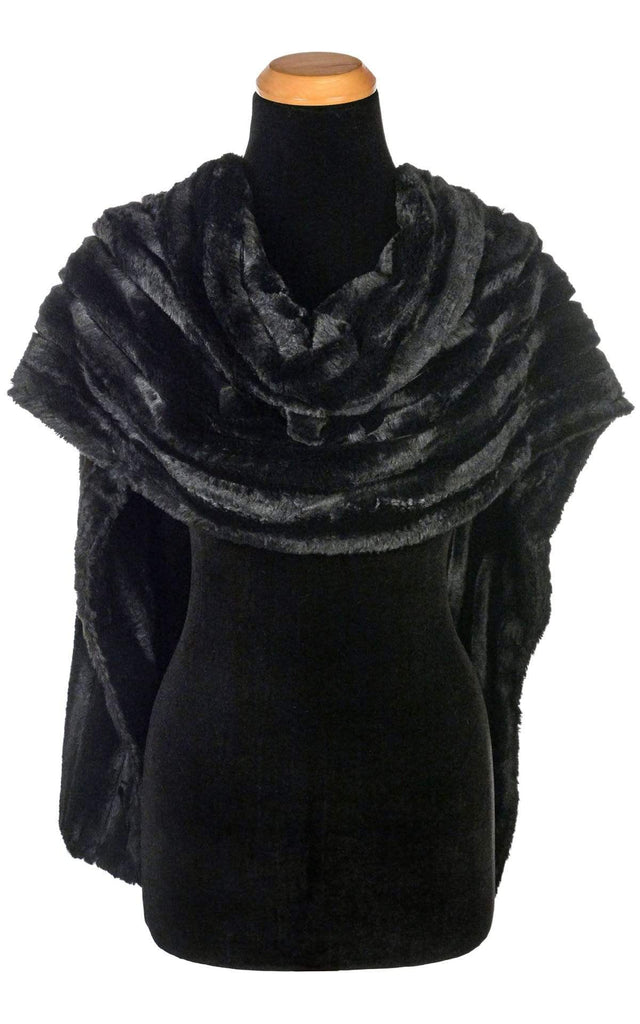 Pandemonium Millinery Stole - Minky Faux Fur in Black Minky Black / None Scarves