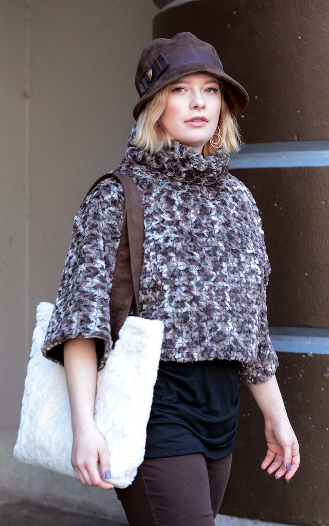 Sweater Top - Luxury Faux Fur in Calico Small / Medium / Calico / Regular Outerwear Pandemonium Millinery