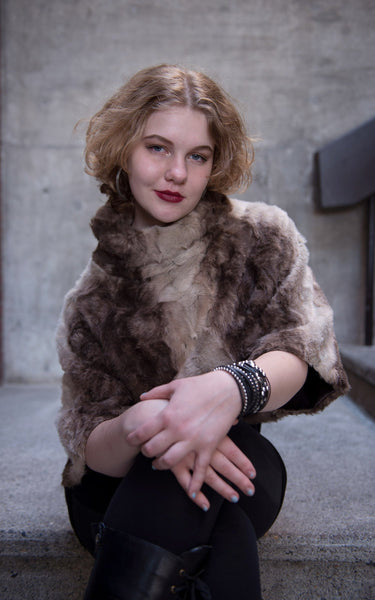 Sweater Top - Luxury Faux Fur in Fawn Small / Medium / Fawn / Regular Outerwear Pandemonium Millinery