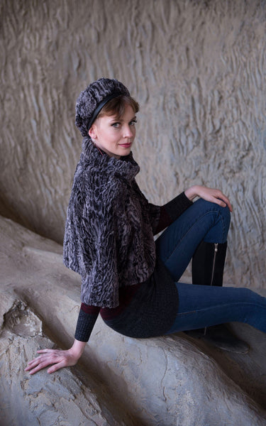 Sweater Top - Luxury Faux Fur in Siberian Lynx Small / Medium / Siberian Lynx / Regular Outerwear Pandemonium Millinery