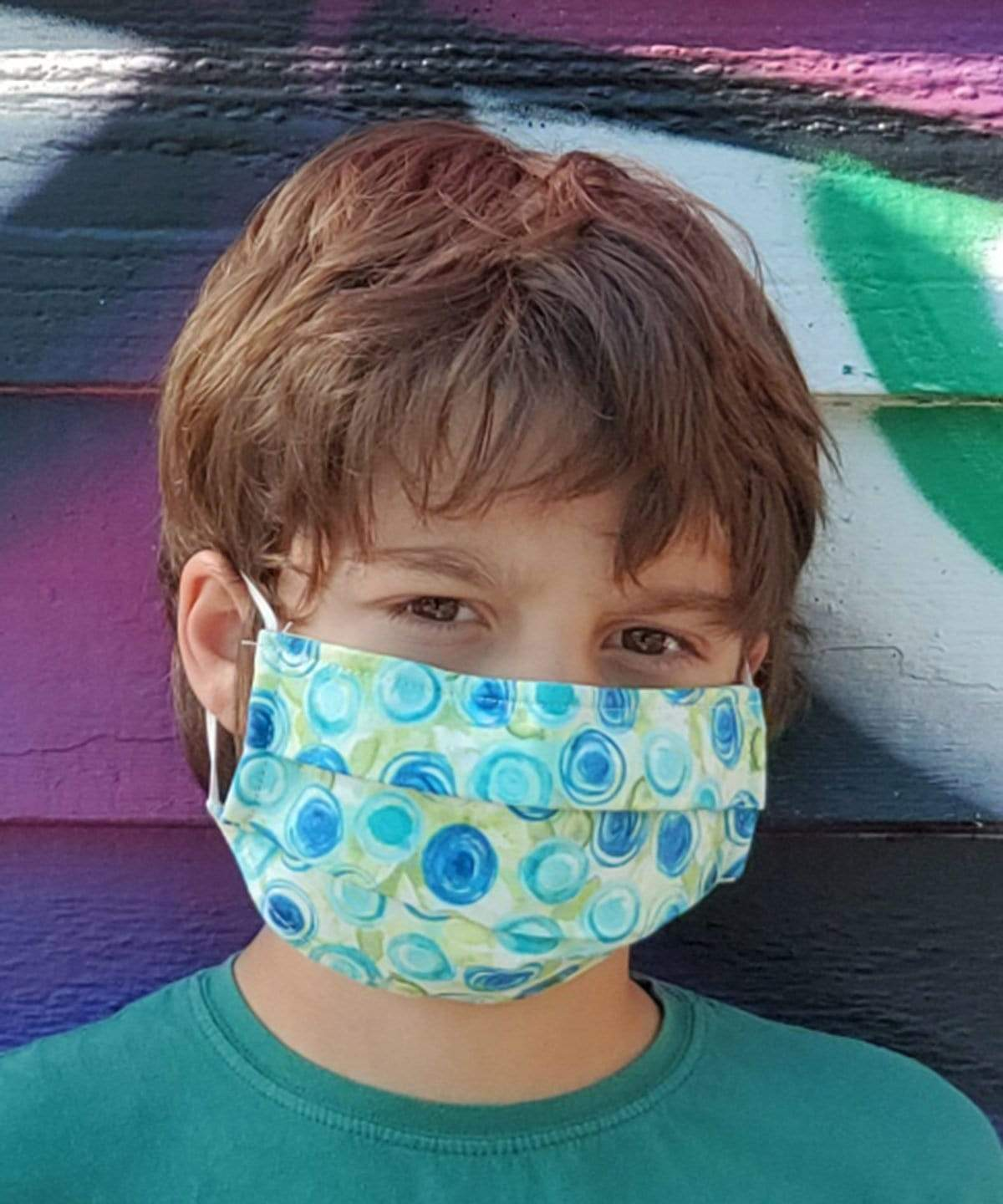 Pandemonium Millinery The Civvy Face Mask (Boy's Basic Pleated) - Prints Accessories