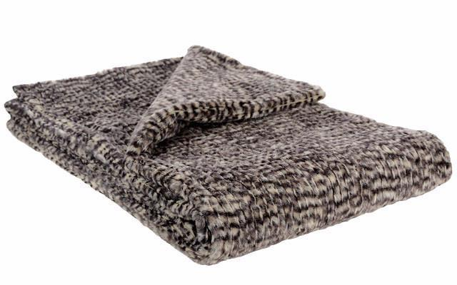 Throw - Cobblestone in Brown/Cream Faux Fur (Only Two Standard with Cuddly Sand Left!)