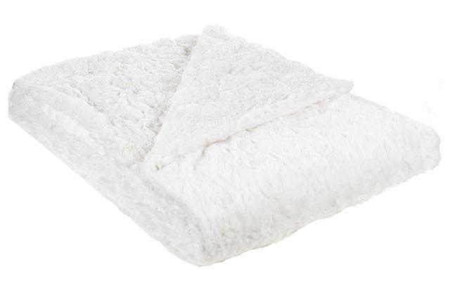"Throw - Cuddly Faux Fur (Stone - SOLD OUT) Standard 58"" x 45"" / Ivory Home decor Pandemonium Millinery"