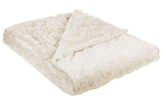 "Throw - Cuddly Faux Fur (Stone - SOLD OUT) Standard 58"" x 45"" / Sand Home decor Pandemonium Millinery"
