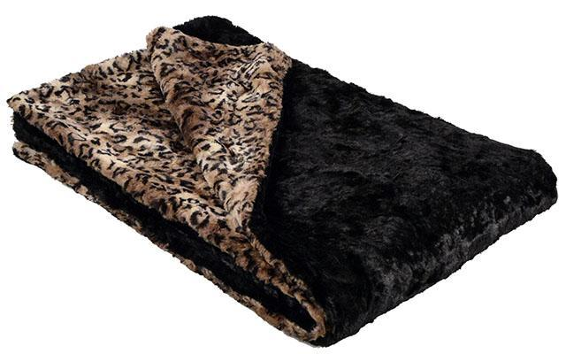 "Throw - Luxury Faux Fur in Carpathian Lynx Standard 58"" x 45"" / Carpathian Lynx Home decor Pandemonium Millinery"