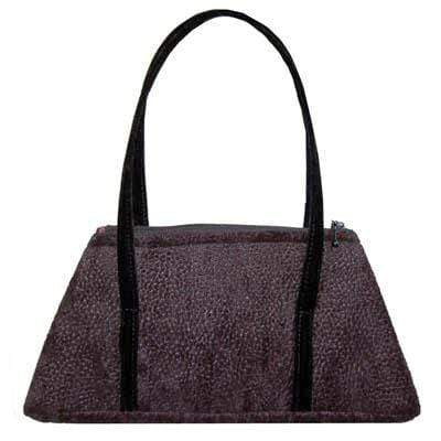 Pandemonium Millinery Valencia Style Handbag - Pebbles in Black Upholstery (One Left!) Pebbles in Black / Velvet Handbag