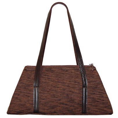 Valencia Style Handbag - Sonora Brown/Black Leather / Sonora / Black Handbag Pandemonium Millinery