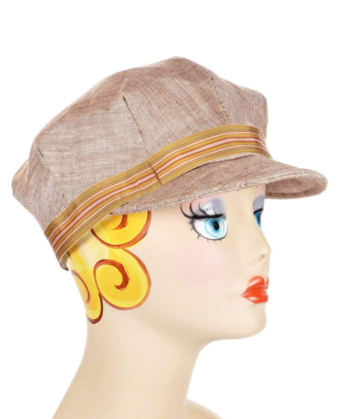 Valerie Cap Style - Linen in Coral