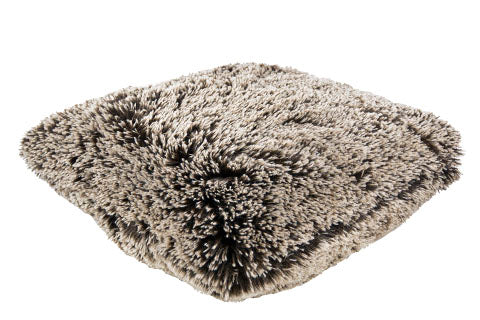"Pillow Sham - Fox Faux Fur 16"" / Add Pillow Form / Silver Tipped Fox Brown Home decor Pandemonium Millinery"