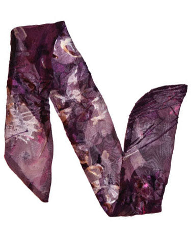 Women's Garden Path Wrist Scarf in Azalea shown without Buckle | Handmade in Seattle WA | Pandemonium Millinery