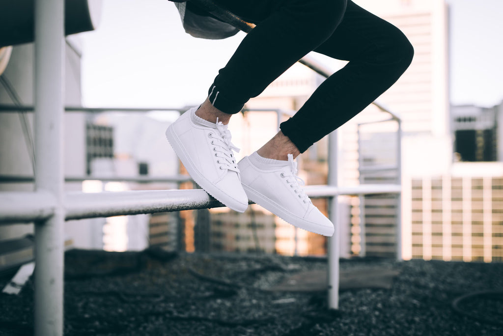 Clean White Lace Up kori sneaker