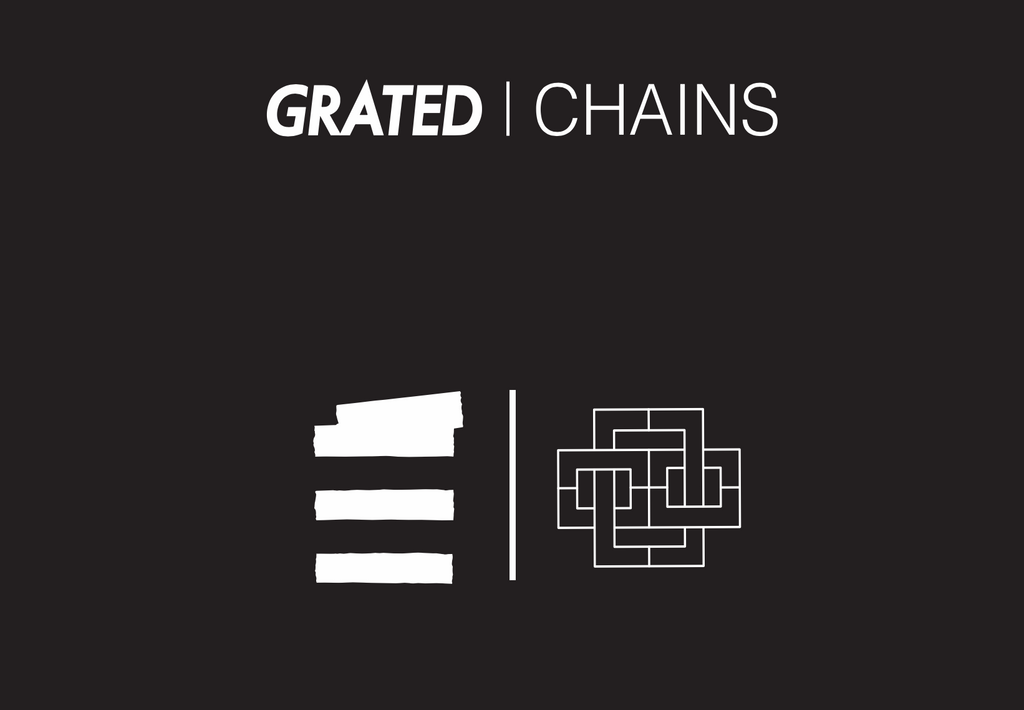 GRATED X CHAINS Collaboration brand logo