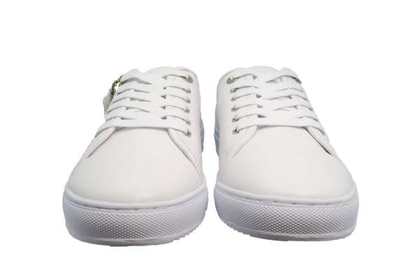 clean white real leather lace-up sneaker from CHAINS
