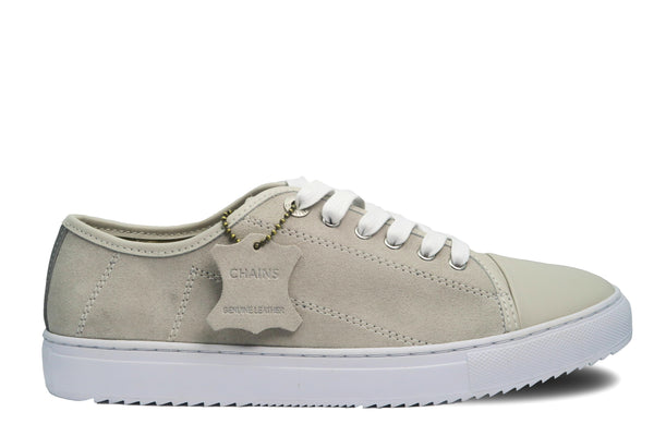 Classic design Stone Grey Kori lace-up sneaker with cow suede and pig leather insole.