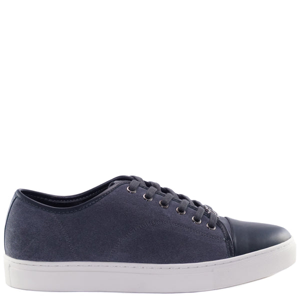 dark grey cow suede kori lace-up sneakers from CHAINS with lace lock