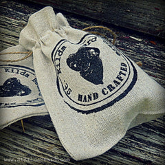 St. Kilda Beard Care linen gift bag