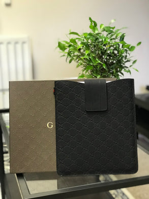 GUCCI BLACK MONOGRAM IPAD CASE