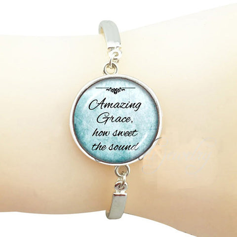 "Silver plated ""Amazing Grace"" Bracelet"