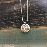 "Isaiah 43:2 ""through Deep Waters"" Necklace"
