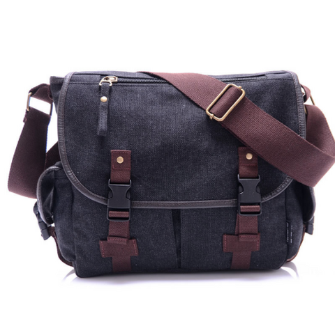 Men's Canvas Bible Messenger Bag