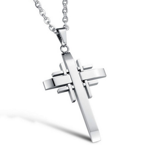 Pendant Designer Cross Necklace - 3 Style Options
