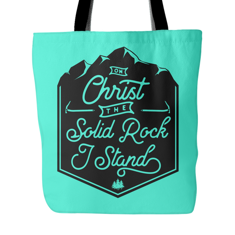 Christ the Solid Rock Tote Bag