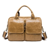Luxury Vintage Cowhide Messenger Crossbody Bag