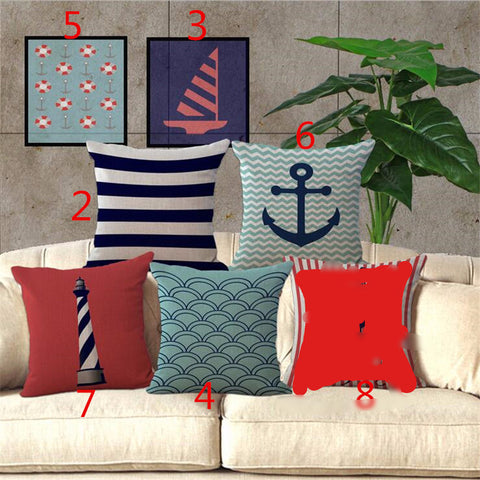 Lighthouse, Anchor, Saved Device, Pillow Covers