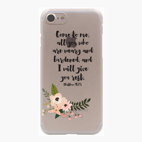 Bible Verse Hard Transparent Case for iPhone