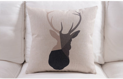 Psalm 18:33 Deer Geometric Multi Color/Size Pillow Covers