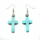 Vintage Turquoise Cross Earrings Offer