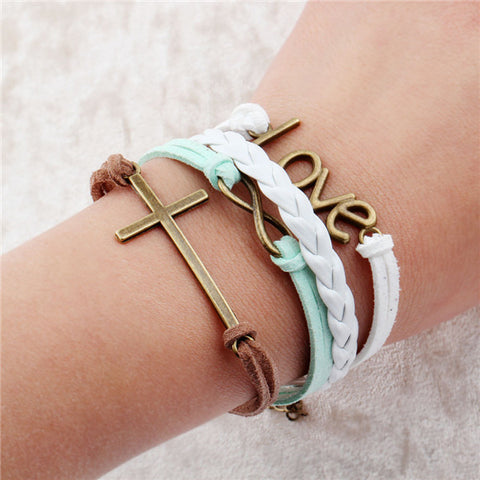 Multilayer Message Wrap Bracelets