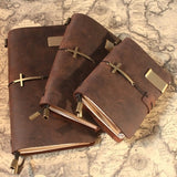 """Cross Leather Bound""  - Journal Note Book"