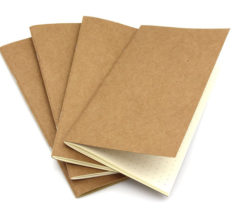 Leather Journal Note Book Refills - Size A5 Compatible (3 Pack)