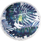 Psalm 92:12 Palm Branches Round Beach Towel