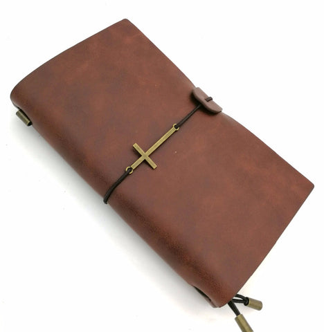 """Cross Bound""  - Imitation Leather Journal Note Book"