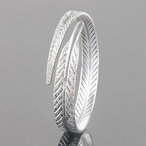 "Silver Plated ""Covered by His Feathers Psalm 91"" Refuge Bracelet"