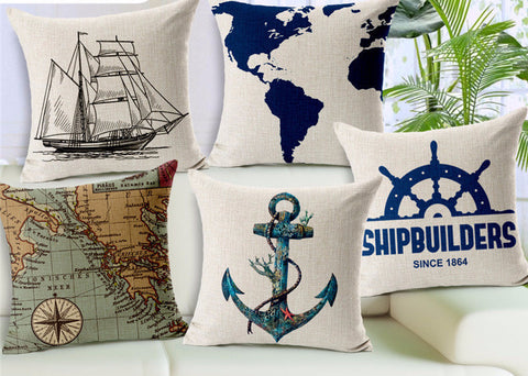 Hope Anchor, Go out into the World Vintage, Pillow Covers
